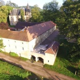Vue sur le Château et le gîte